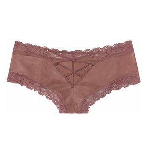 Victoria's Secret Intimates & Sleepwear - Vintage Rose Pink Ring Lace-Up Cheeky Panty S62